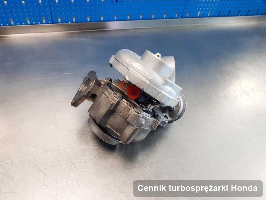 Turbosprężarka do diesla z logo Honda wyremontowana w przedsiębiorstwie gdzie wykonuje się usługę Cennik turbosprężarki