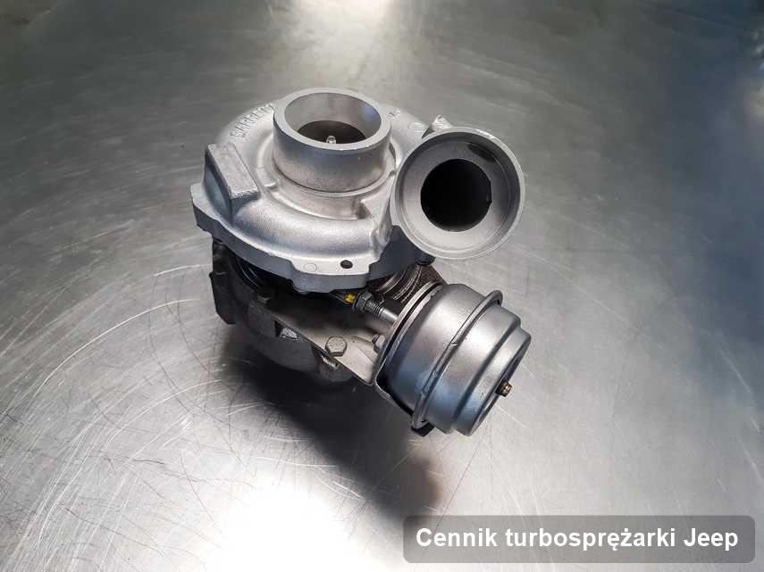 Turbosprężarka do osobówki producenta Jeep po naprawie w pracowni gdzie przeprowadza się  usługę Cennik turbosprężarki