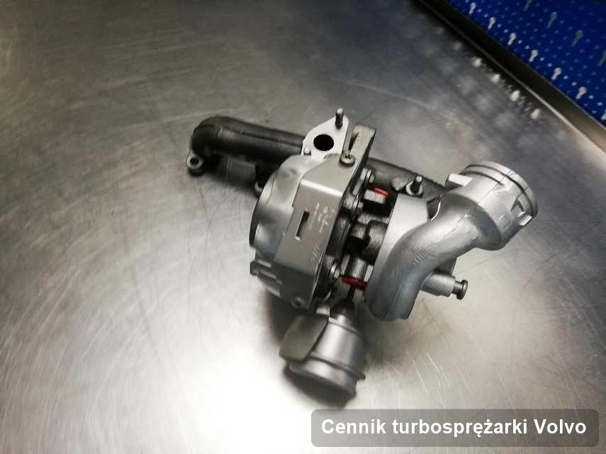 Turbosprężarka do auta osobowego firmy Volvo po naprawie w pracowni gdzie realizuje się serwis Cennik turbosprężarki