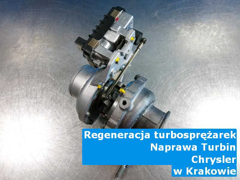 Turbosprężarka z auta Chrysler zregenerowana pod Krakowem