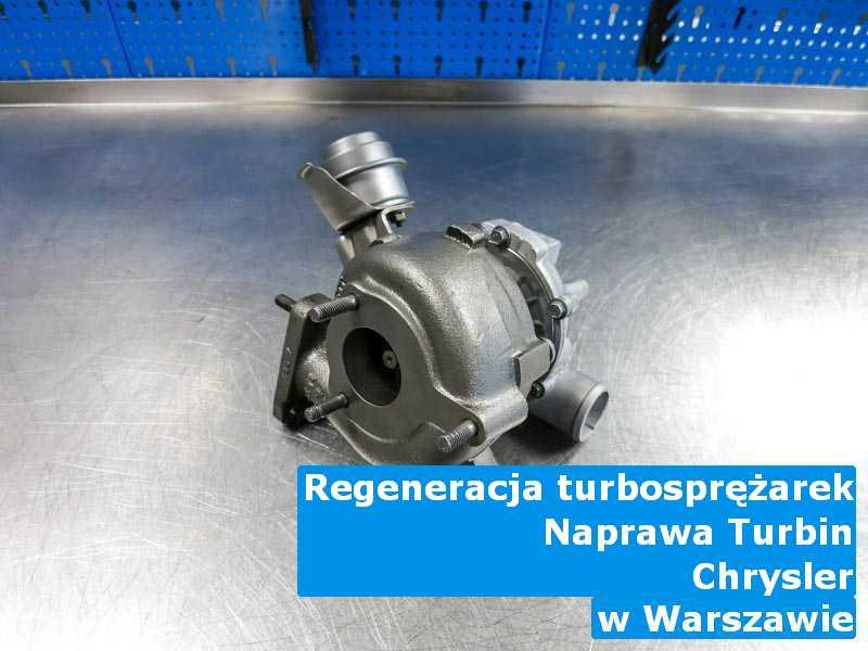 Turbosprężarka z pojazdu marki Chrysler po naprawie w Warszawie