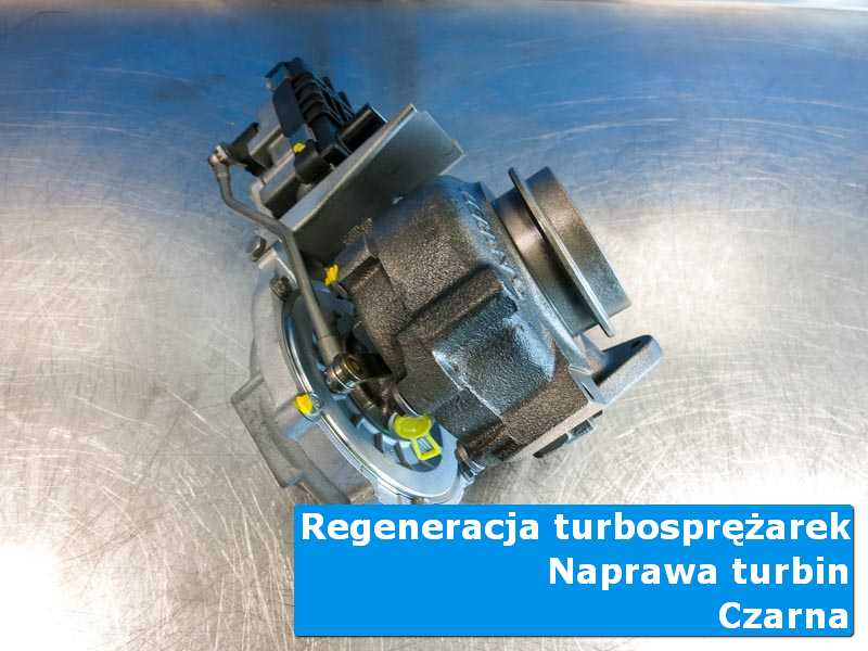 Turbosprężarka przed wysyłką w specjalistycznej pracowni z Czarnej