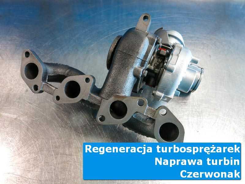 Turbosprężarka po wyważaniu na stole w laboratorium w Czerwonaku