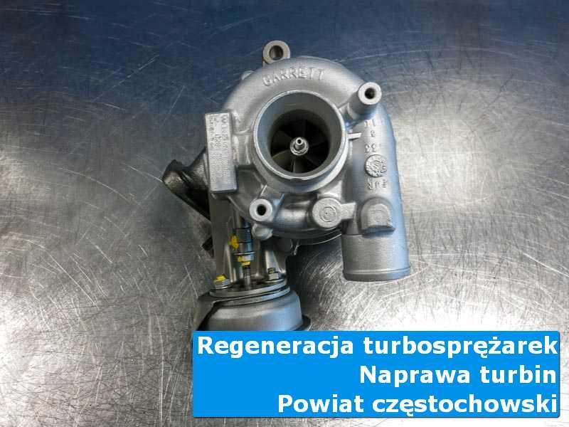 Turbosprężarka po wizycie w ASO na stole w pracowni w {miasto_miejscownik}