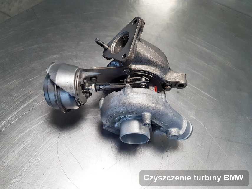 Turbosprężarka do osobówki firmy BMW wyczyszczona w przedsiębiorstwie gdzie zleca się serwis Czyszczenie turbiny