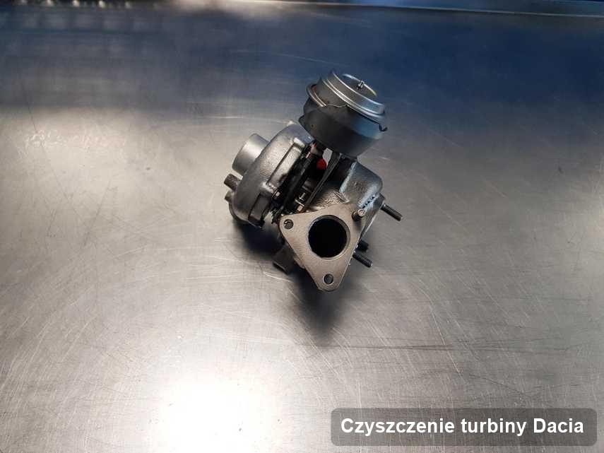 Turbina do auta producenta Dacia naprawiona w laboratorium gdzie przeprowadza się  usługę Czyszczenie turbiny