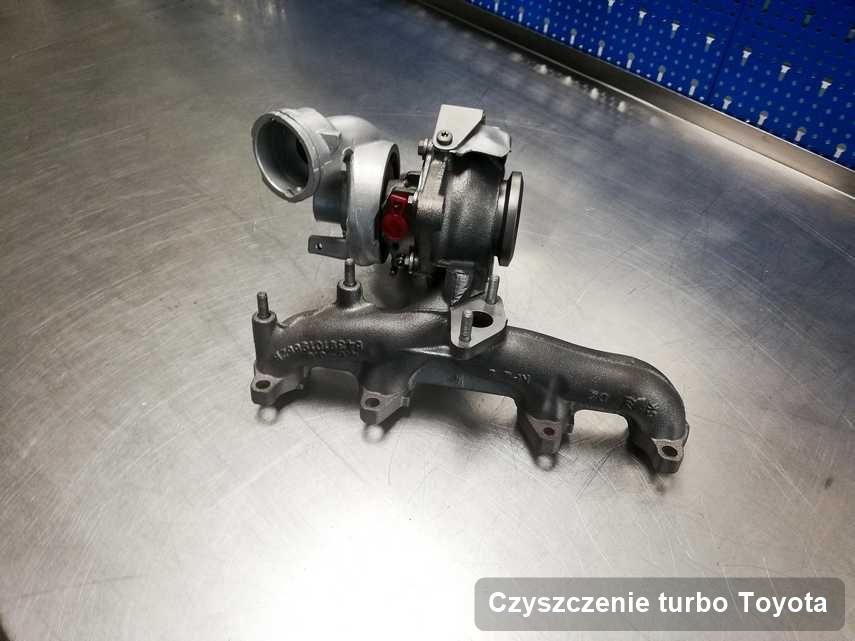 Turbosprężarka do diesla firmy Toyota wyremontowana w warsztacie gdzie przeprowadza się  serwis Czyszczenie turbo