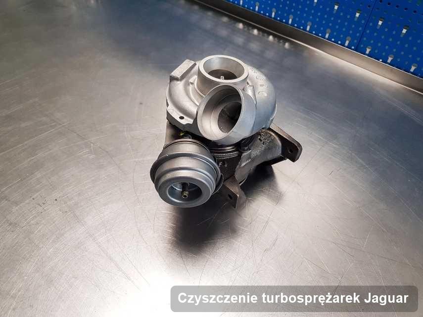 Turbina do osobówki spod znaku Jaguar wyczyszczona w pracowni gdzie realizuje się serwis Czyszczenie turbosprężarek