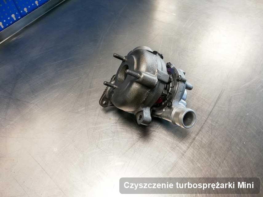 Turbina do samochodu osobowego firmy Mini wyczyszczona w pracowni gdzie realizuje się usługę Czyszczenie turbosprężarki