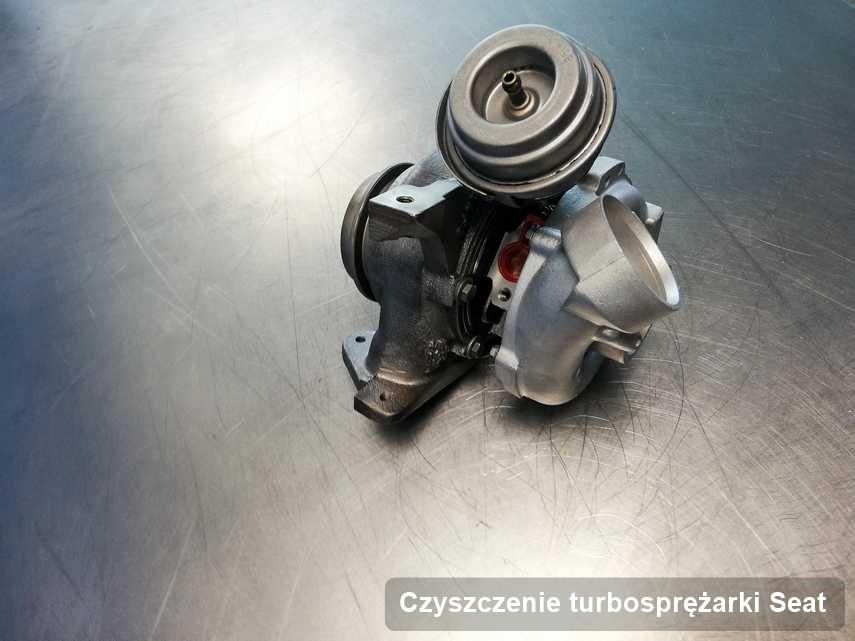 Turbina do pojazdu z logo Seat wyremontowana w pracowni gdzie zleca się serwis Czyszczenie turbosprężarki