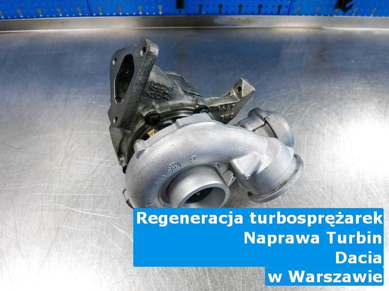 Turbiny z pojazdu marki Dacia wysłane do diagnostyki z Warszawy
