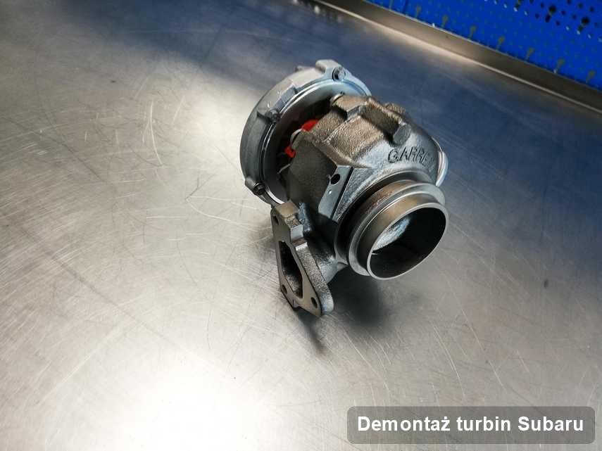 Turbosprężarka do pojazdu producenta Subaru po remoncie w przedsiębiorstwie gdzie realizuje się serwis Demontaż turbin