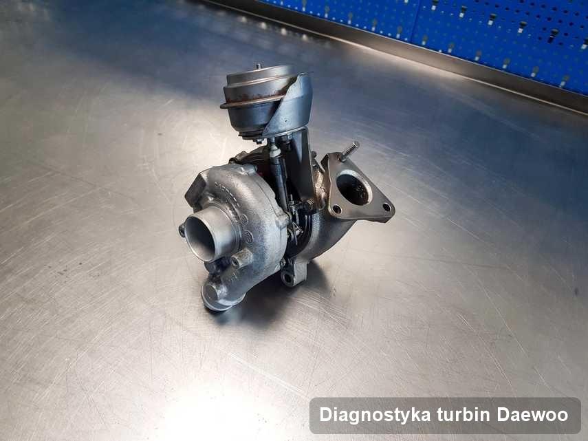 Turbosprężarka do auta producenta Daewoo naprawiona w pracowni gdzie przeprowadza się  usługę Diagnostyka turbin