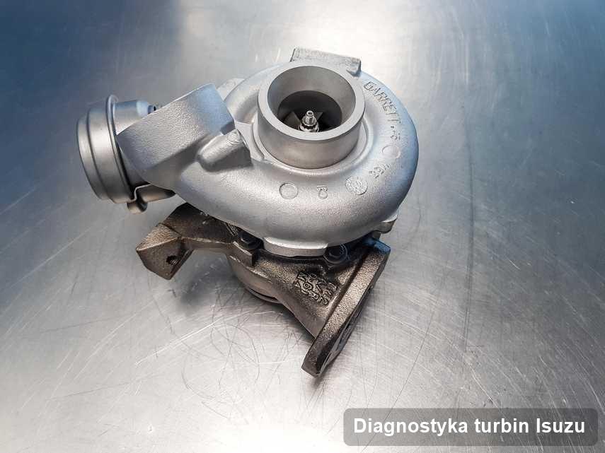 Turbosprężarka do auta osobowego marki Isuzu wyremontowana w warsztacie gdzie wykonuje się serwis Diagnostyka turbin