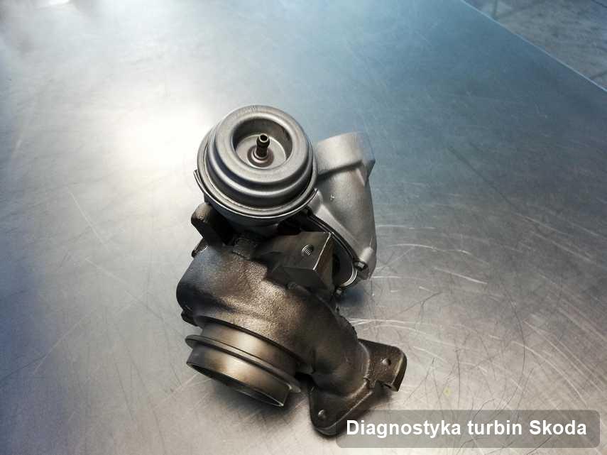 Turbosprężarka do diesla firmy Skoda po naprawie w pracowni gdzie realizuje się serwis Diagnostyka turbin