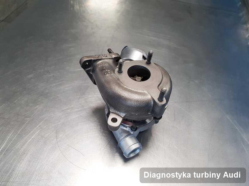 Turbosprężarka do auta osobowego spod znaku Audi wyremontowana w pracowni gdzie zleca się usługę Diagnostyka turbiny