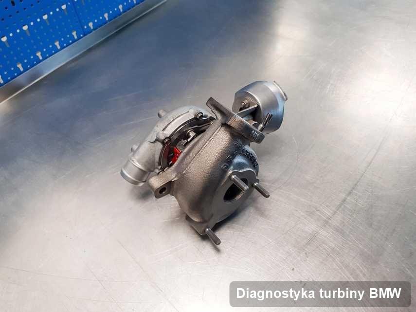 Turbosprężarka do diesla sygnowane logiem BMW zregenerowana w pracowni gdzie realizuje się serwis Diagnostyka turbiny