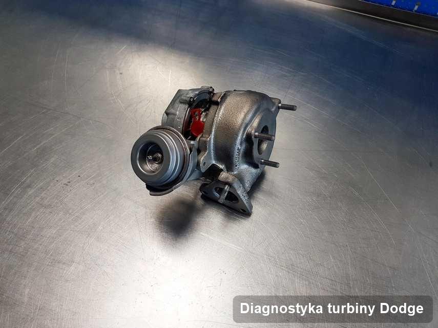 Turbina do auta spod znaku Dodge naprawiona w przedsiębiorstwie gdzie przeprowadza się  serwis Diagnostyka turbiny