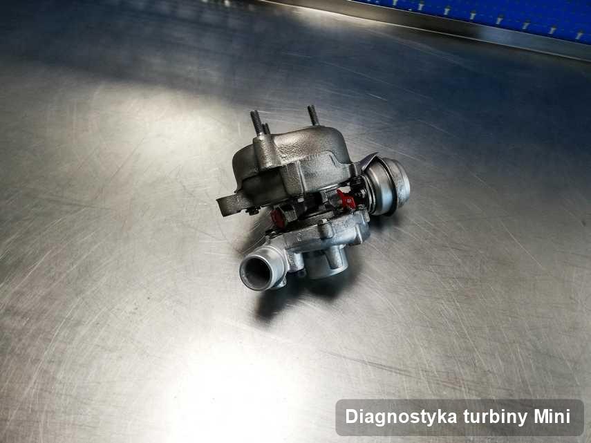 Turbina do samochodu marki Mini zregenerowana w przedsiębiorstwie gdzie wykonuje się serwis Diagnostyka turbiny
