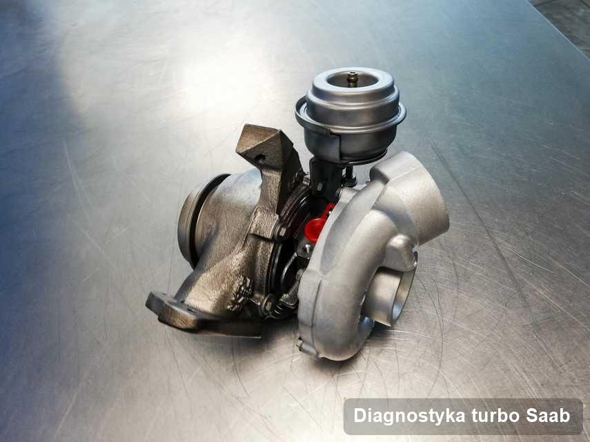 Turbosprężarka do samochodu sygnowane logiem Saab zregenerowana w warsztacie gdzie zleca się serwis Diagnostyka turbo