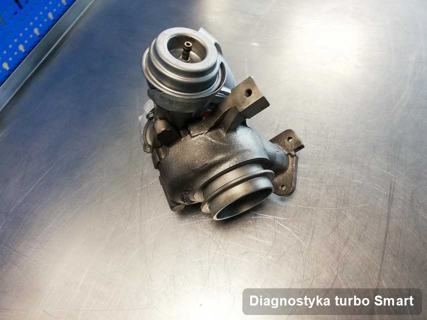Turbina do auta firmy Smart wyremontowana w warsztacie gdzie przeprowadza się  serwis Diagnostyka turbo