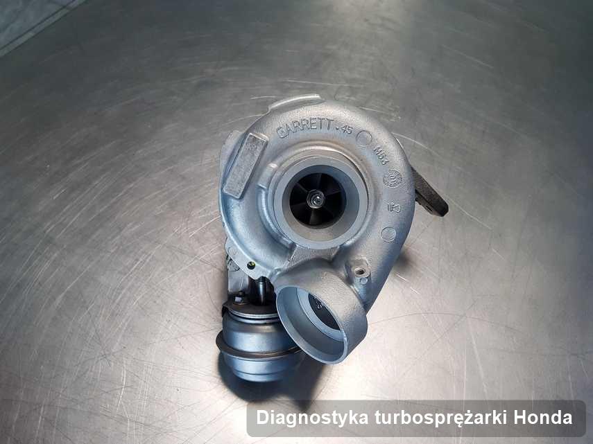 Turbosprężarka do samochodu spod znaku Honda zregenerowana w firmie gdzie przeprowadza się  serwis Diagnostyka turbosprężarki