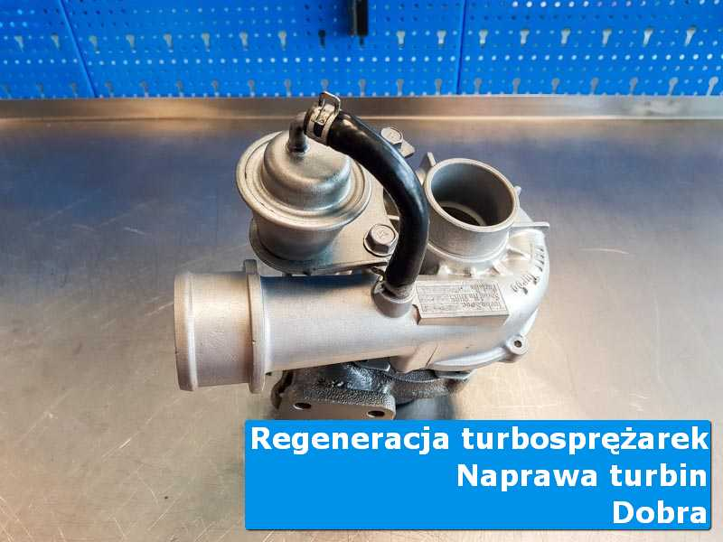 Turbosprężarka po regeneracji na stole pracowniczym z Dobrej