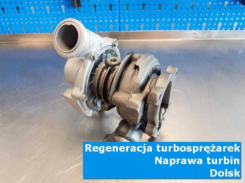 Turbosprężarka przed wysyłką na stole w laboratorium w Dolsku