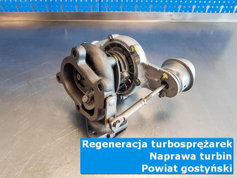 Turbosprężarka po naprawie na stole pracowniczym, powiat gostyński