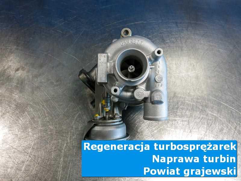 Turbosprężarka po przywróceniu sprawności w pracowni, powiat grajewski