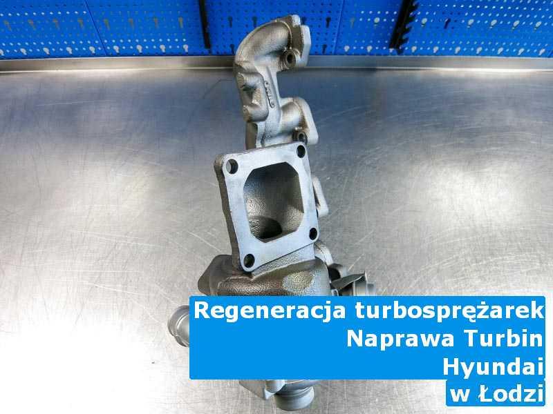 Turbiny z pojazdu marki Hyundai po odzyskaniu osiągów z Łodzi