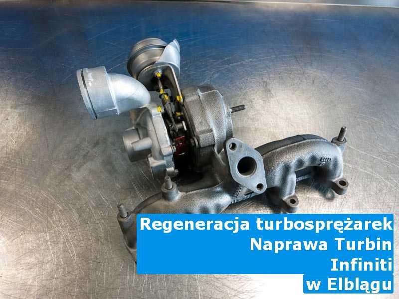 Turbosprężarka z samochodu Infiniti wysłana do pracowni w Elblągu