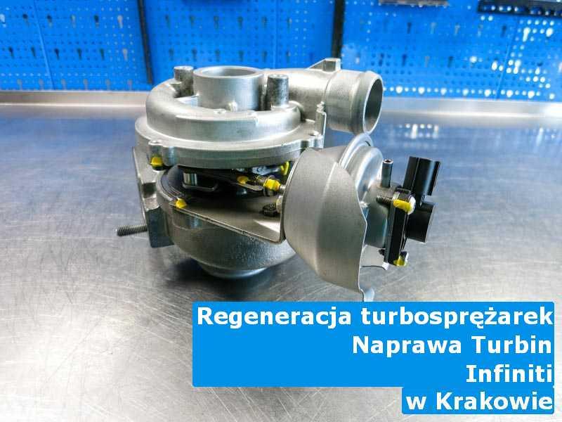 Turbosprężarki z samochodu Infiniti zregenerowane w Krakowie