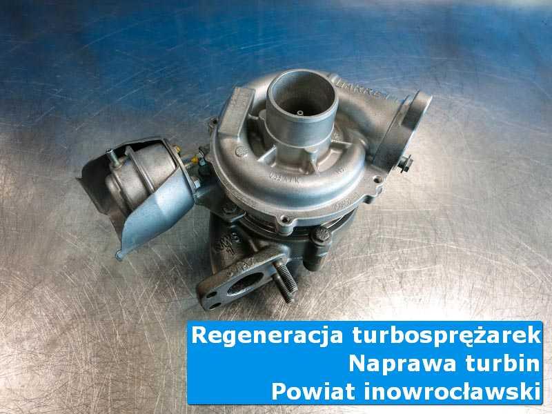 Turbosprężarka po czyszczeniu w specjalistycznej pracowni, powiat inowrocławski