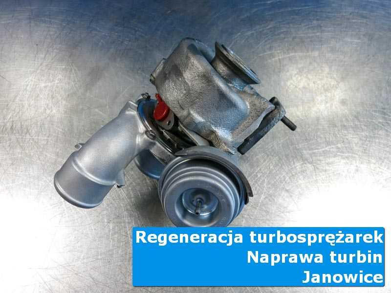 Turbosprężarka po czyszczeniu w nowoczesnej pracowni w Janowicach