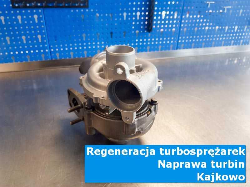 Turbosprężarka po wyważaniu na stole w pracowni z Kajkowa