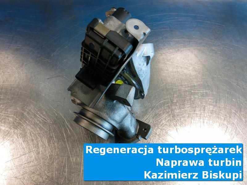 Turbina po wizycie w ASO na stole w laboratorium w Kazimierzu Biskupim