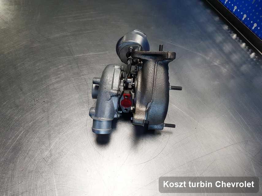 Turbina do pojazdu producenta Chevrolet po naprawie w laboratorium gdzie wykonuje się serwis Koszt turbin