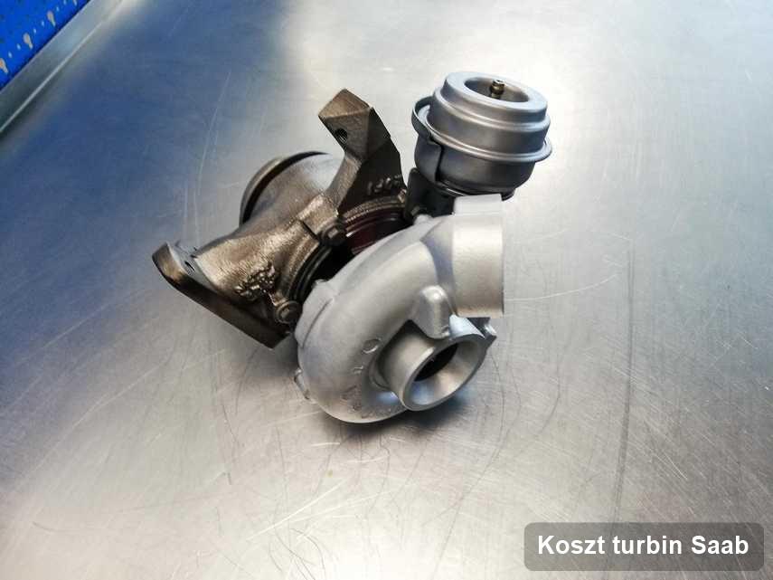 Turbosprężarka do pojazdu z logo Saab zregenerowana w pracowni gdzie przeprowadza się  usługę Koszt turbin