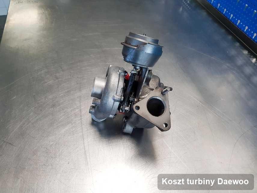 Turbina do samochodu osobowego sygnowane logiem Daewoo naprawiona w laboratorium gdzie przeprowadza się  serwis Koszt turbiny