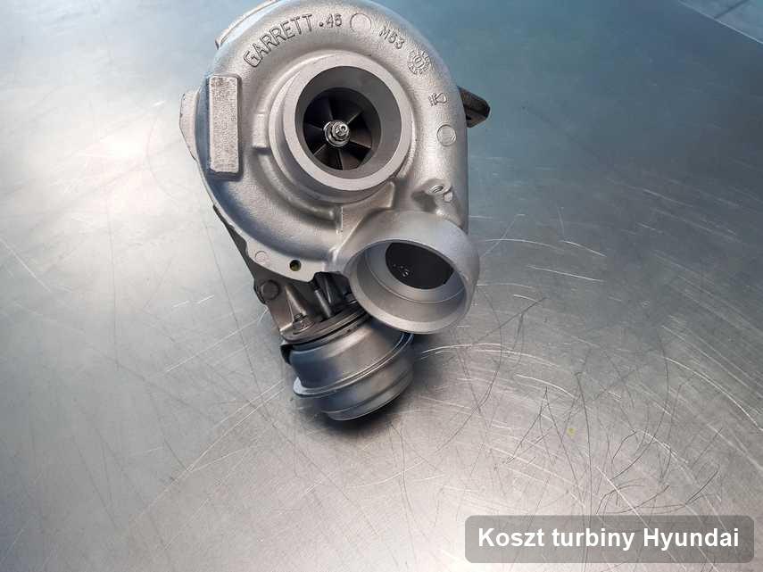 Turbosprężarka do osobówki firmy Hyundai po naprawie w przedsiębiorstwie gdzie wykonuje się serwis Koszt turbiny