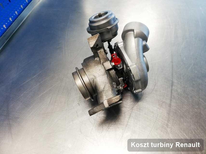 Turbosprężarka do diesla spod znaku Renault naprawiona w laboratorium gdzie realizuje się usługę Koszt turbiny