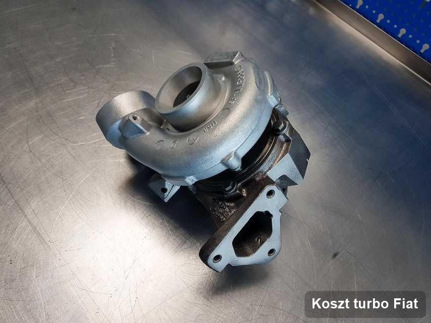 Turbina do pojazdu spod znaku Fiat po remoncie w warsztacie gdzie przeprowadza się  serwis Koszt turbo