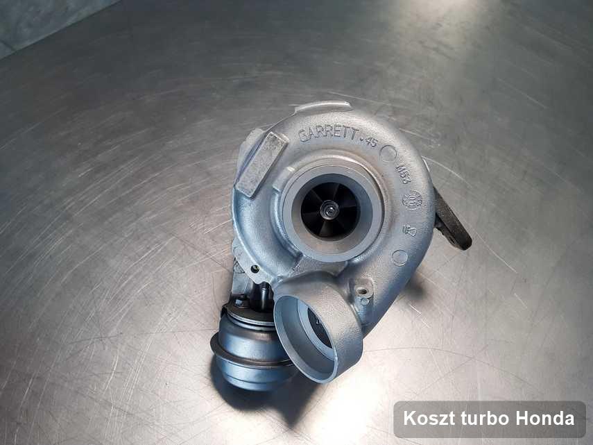 Turbina do samochodu osobowego producenta Honda po naprawie w pracowni gdzie realizuje się usługę Koszt turbo