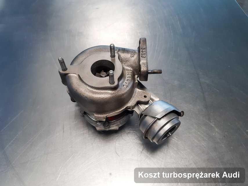 Turbina do pojazdu sygnowane logiem Audi zregenerowana w laboratorium gdzie zleca się usługę Koszt turbosprężarek