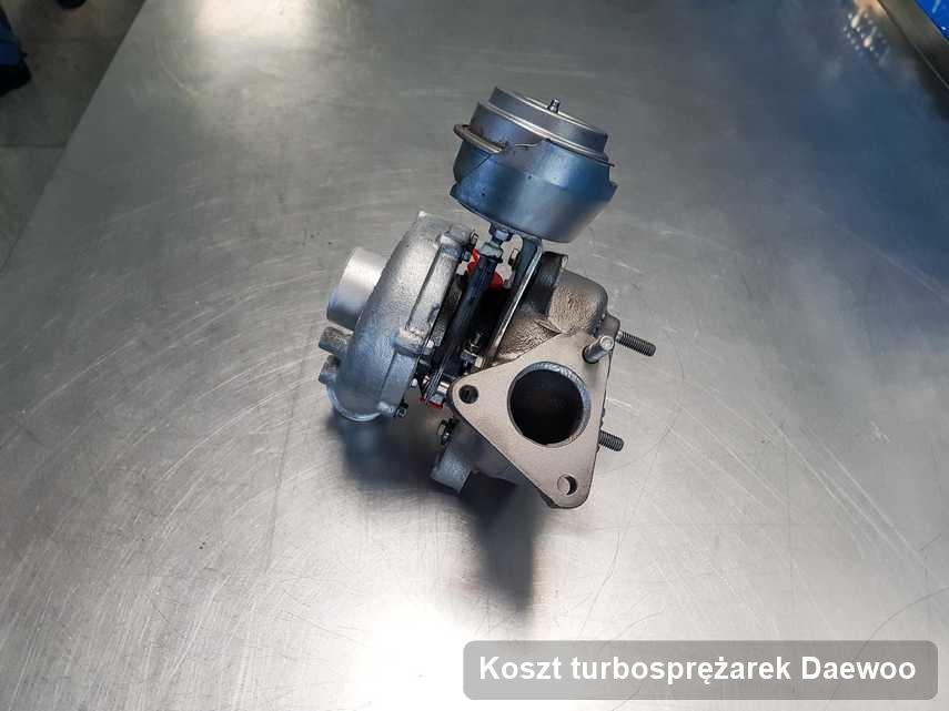 Turbosprężarka do osobówki marki Daewoo wyremontowana w warsztacie gdzie wykonuje się usługę Koszt turbosprężarek