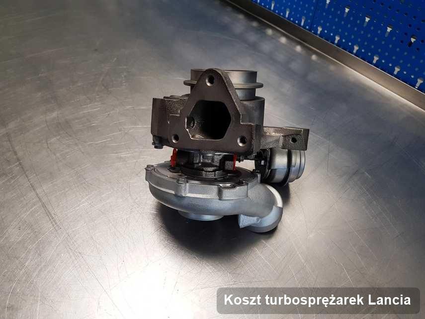 Turbina do auta osobowego firmy Lancia wyremontowana w firmie gdzie realizuje się usługę Koszt turbosprężarek