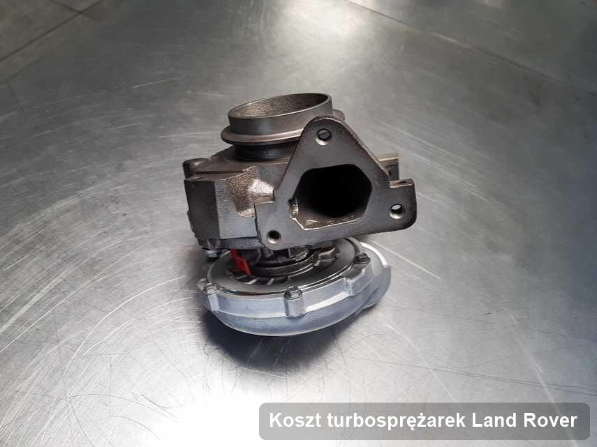 Turbosprężarka do samochodu osobowego marki Land Rover wyczyszczona w firmie gdzie realizuje się usługę Koszt turbosprężarek