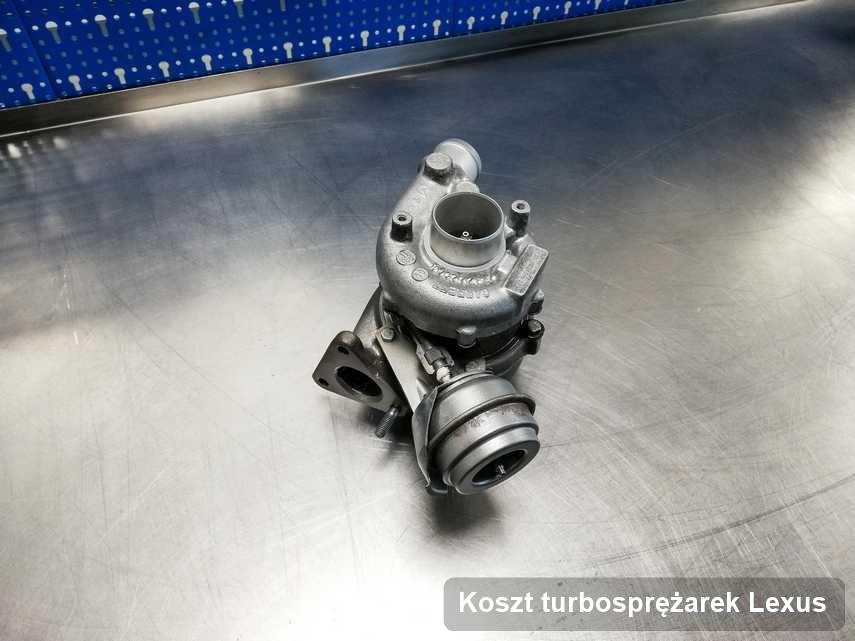Turbosprężarka do auta sygnowane logiem Lexus naprawiona w przedsiębiorstwie gdzie realizuje się serwis Koszt turbosprężarek