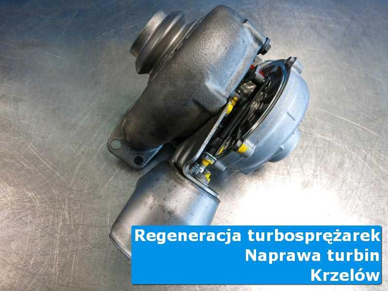 Turbosprężarka po przywróceniu sprawności w warsztacie w Krzelowie